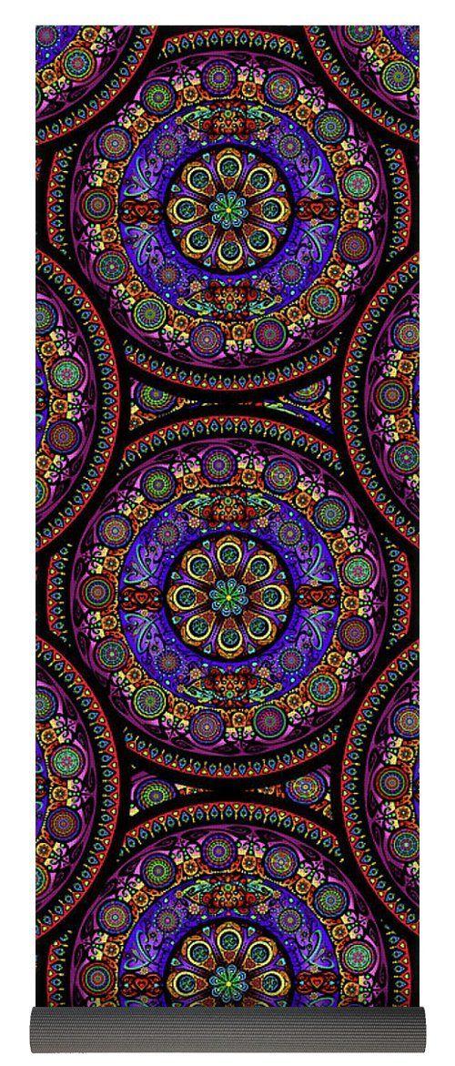 Crown Chakra Mandala Yoga Mat | Mandala, Yoga, Crown chakra