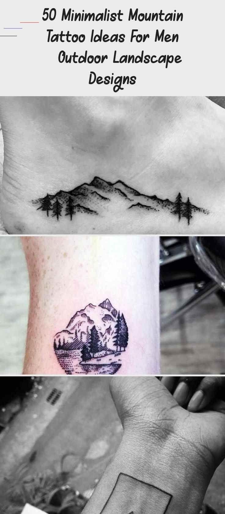 Photo of 50 Minimalist Mountain Tattoo Ideas For Men – Outdoor Landscape Designs – Tatt…