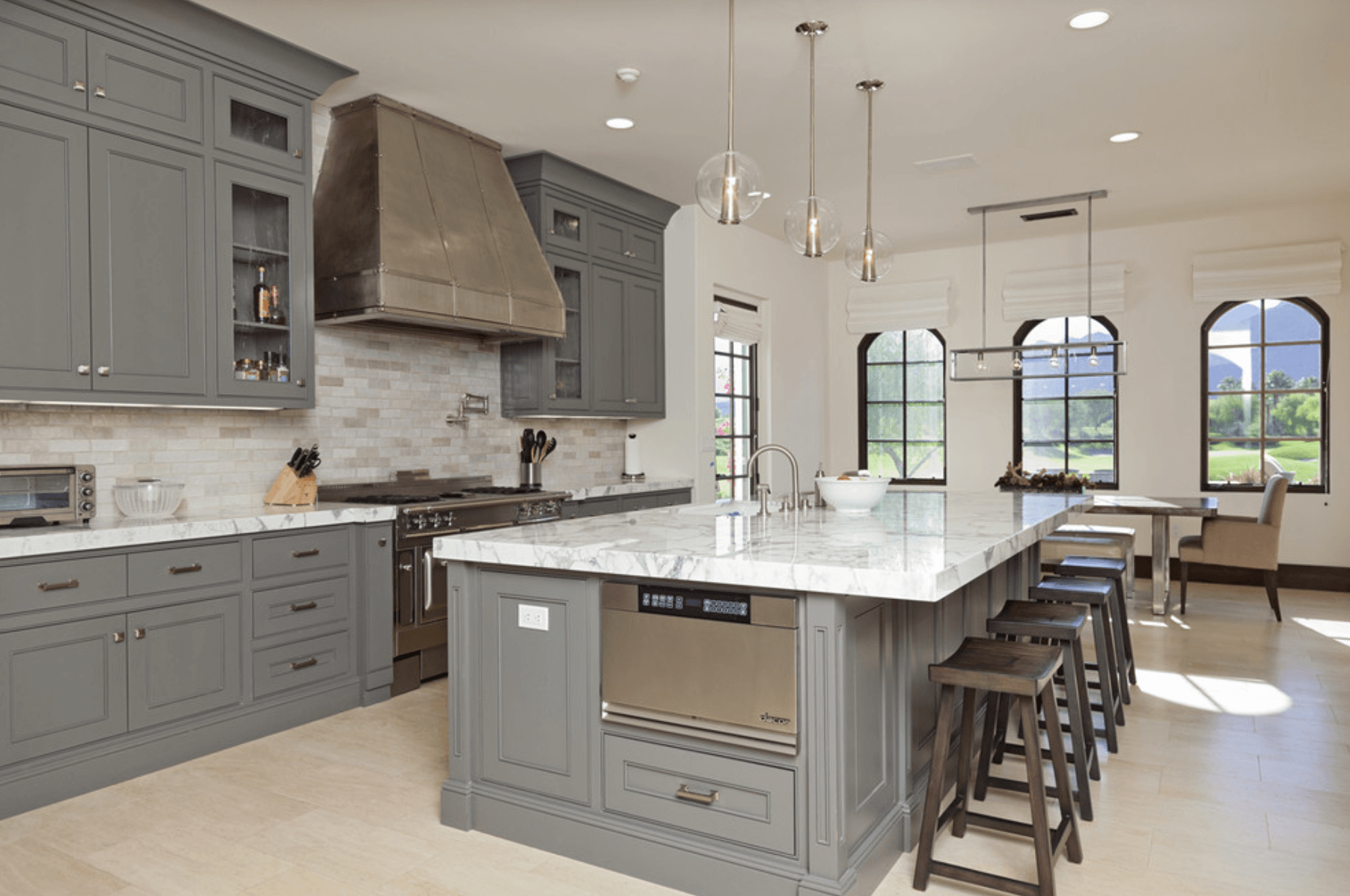 Gray And White Cabinets In Kitchen Gray Cabinets In Kitchen Gray