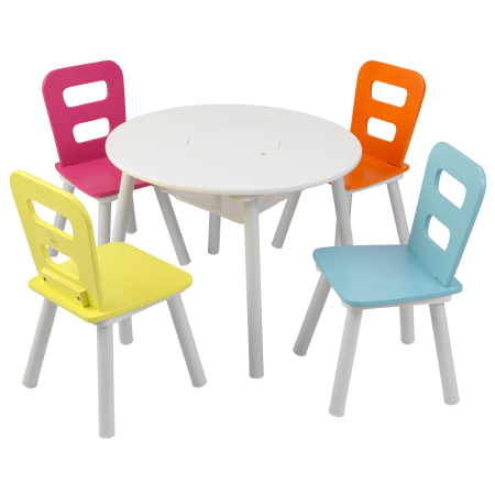 Free Shipping Buy Kidkraft Round Storage Table Amp 4 Chair