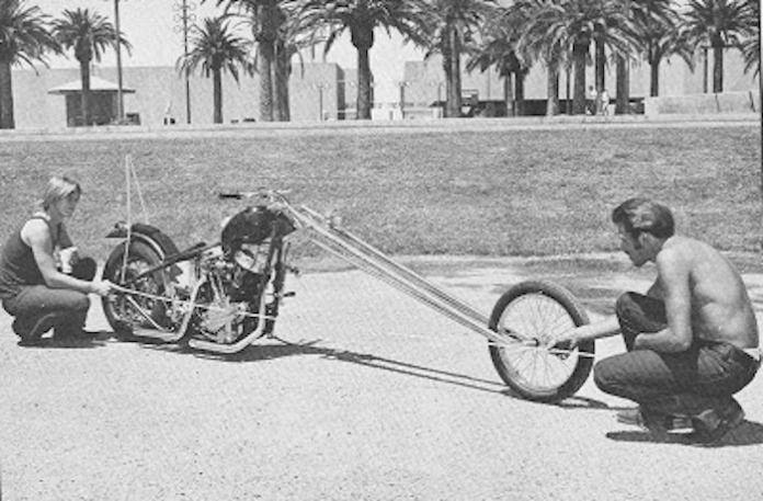 john harman stretched out spirder custom chopper vintage bikes