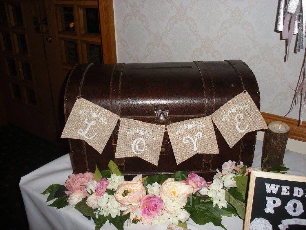 Vintage wedding Rustic post box