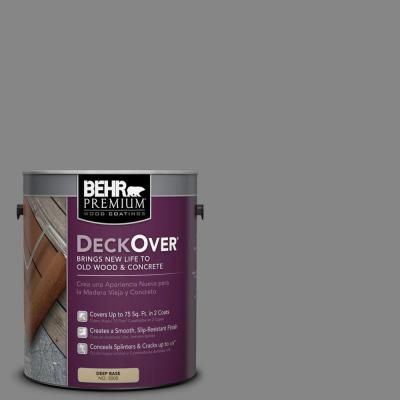 Behr Premium Deckover 1 Gal Pfc 63 Slate Gray Wood And Concrete