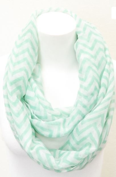 mint.quenalbertini: Mint Chevron Infinity Scarf | Boutique Clothing