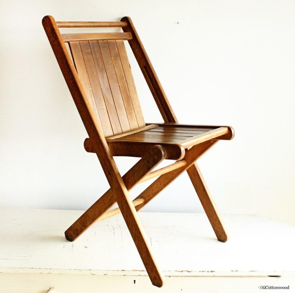 Bon Cream Wooden Folding Chairs