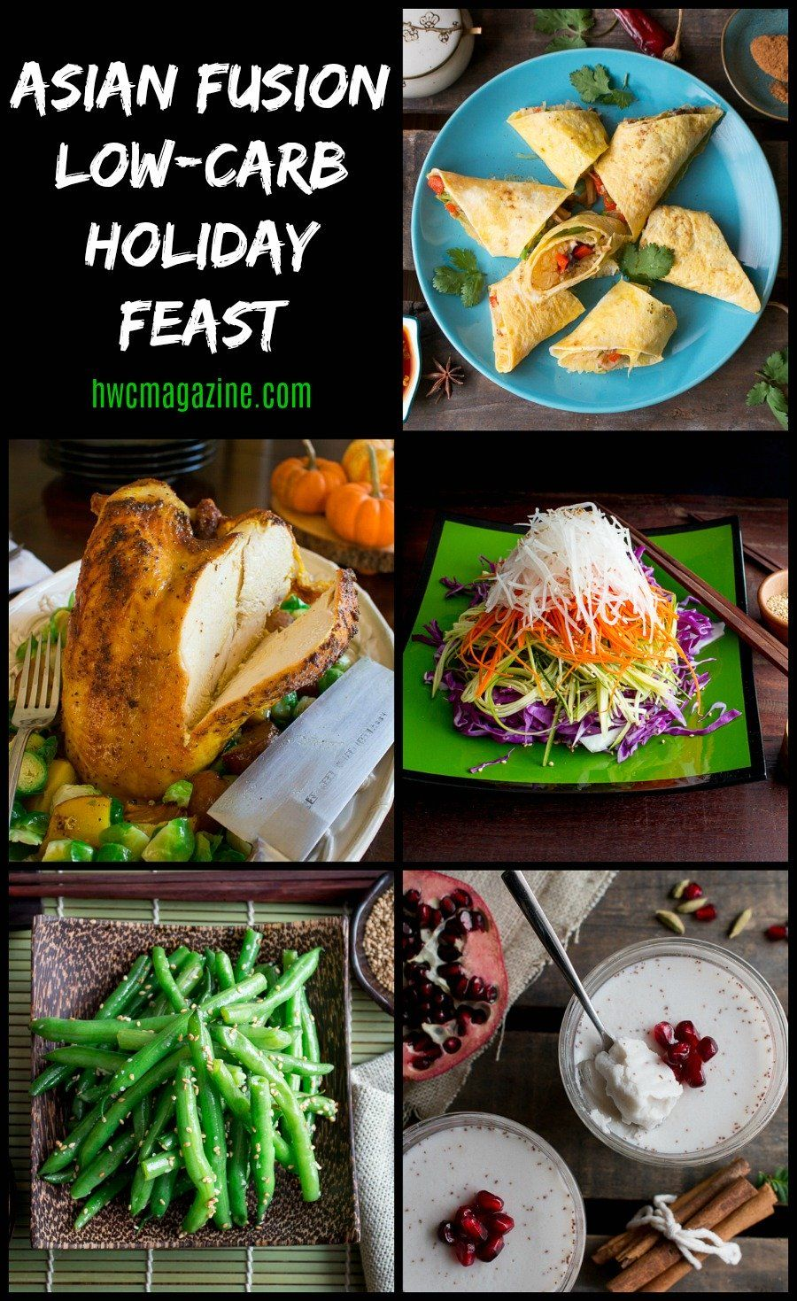 Asian fusion lowcarb holiday feast recipes low carb
