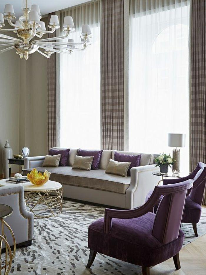 1001 Idees Captivantes D Interieur Art Deco A Recreer Chez Vous Salons Violet Interieur Art Deco Salon Contemporain