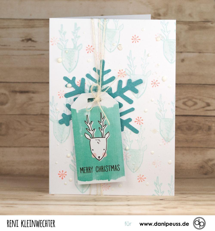 Hübsche handgemachte Weihnachtskarte mit dem Dezember Kartenkit ...