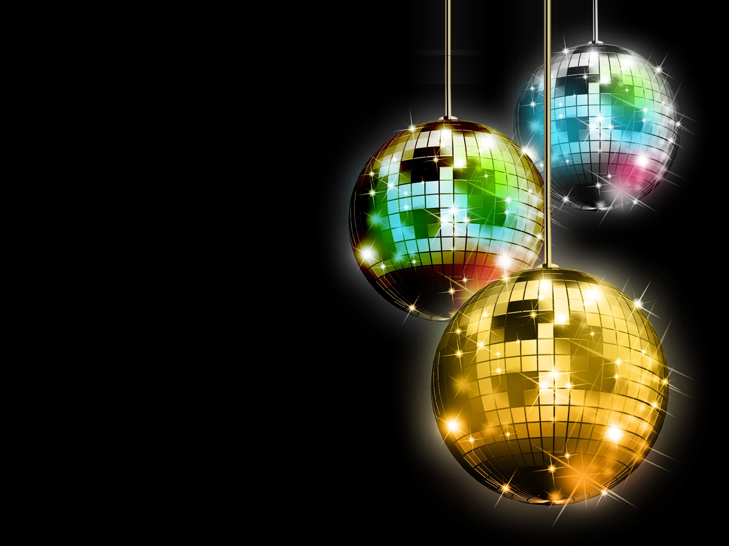 Disco Balls Background 002 (JPG)