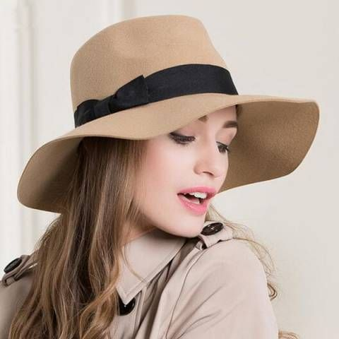 2427f76159e Hats · Fedora Hat · Winter Outfits · https   www.buyhathats.com khaki-wool- floppy-