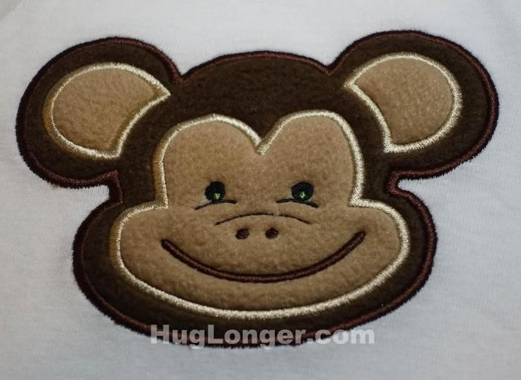 Applique Monkey embroidery file   Craftsy