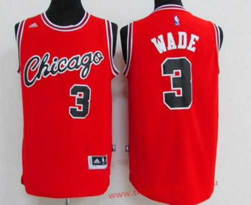 Chicago Bulls  3 Dwyane Wade Red Retro Revolution 30 Swingman Adidas  Basketball Jersey eab2779a8