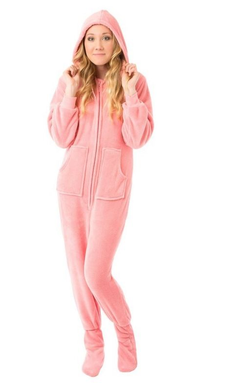 Pink Hoodie Plush Footed Pajamas - Ultra Soft Plush Material Very Warm  Pajamas Zipper Front – Fun   Practical Drop-Seat Link  fashion  women   womenfashion 06a479a02