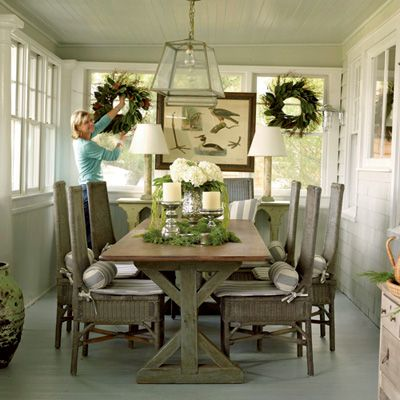 38 Easy Holiday Decorating Ideas  Holiday Wreaths Coastal Cool Coastal Dining Room Tables 2018