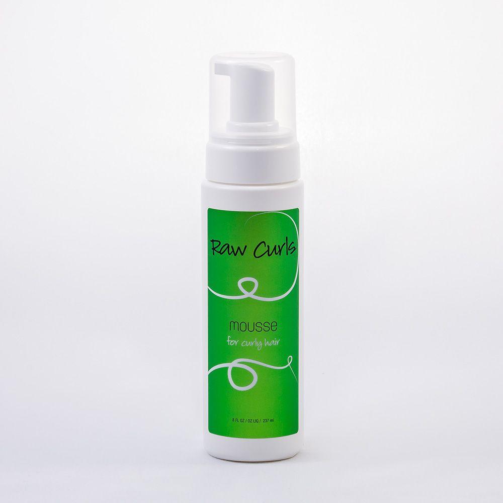 Raw Curls Organic Mousse Styling Foam Raw Hair Organics Organic Hair Raw Hair Curl Mousse