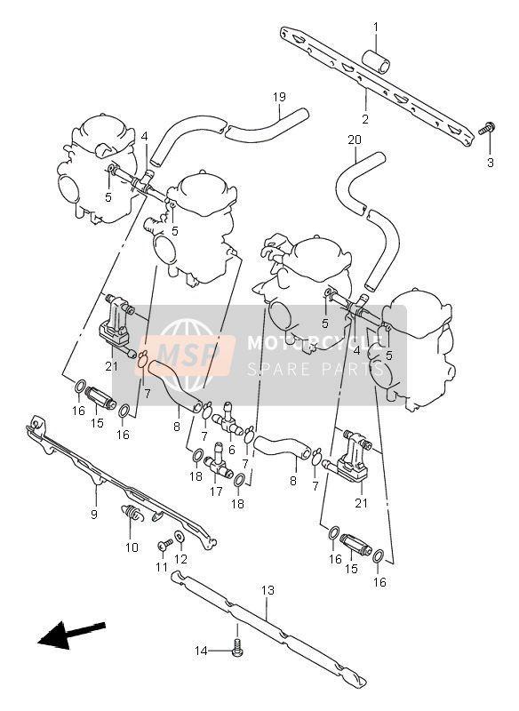 Carburetor Fittings For 1999 Suzuki Gsf600ns Bandit