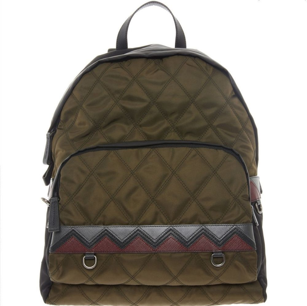 ae7def6e9f1 eBay  Sponsored PRADA Green   Black Quilted Backpack RRP 1400.00 now ...