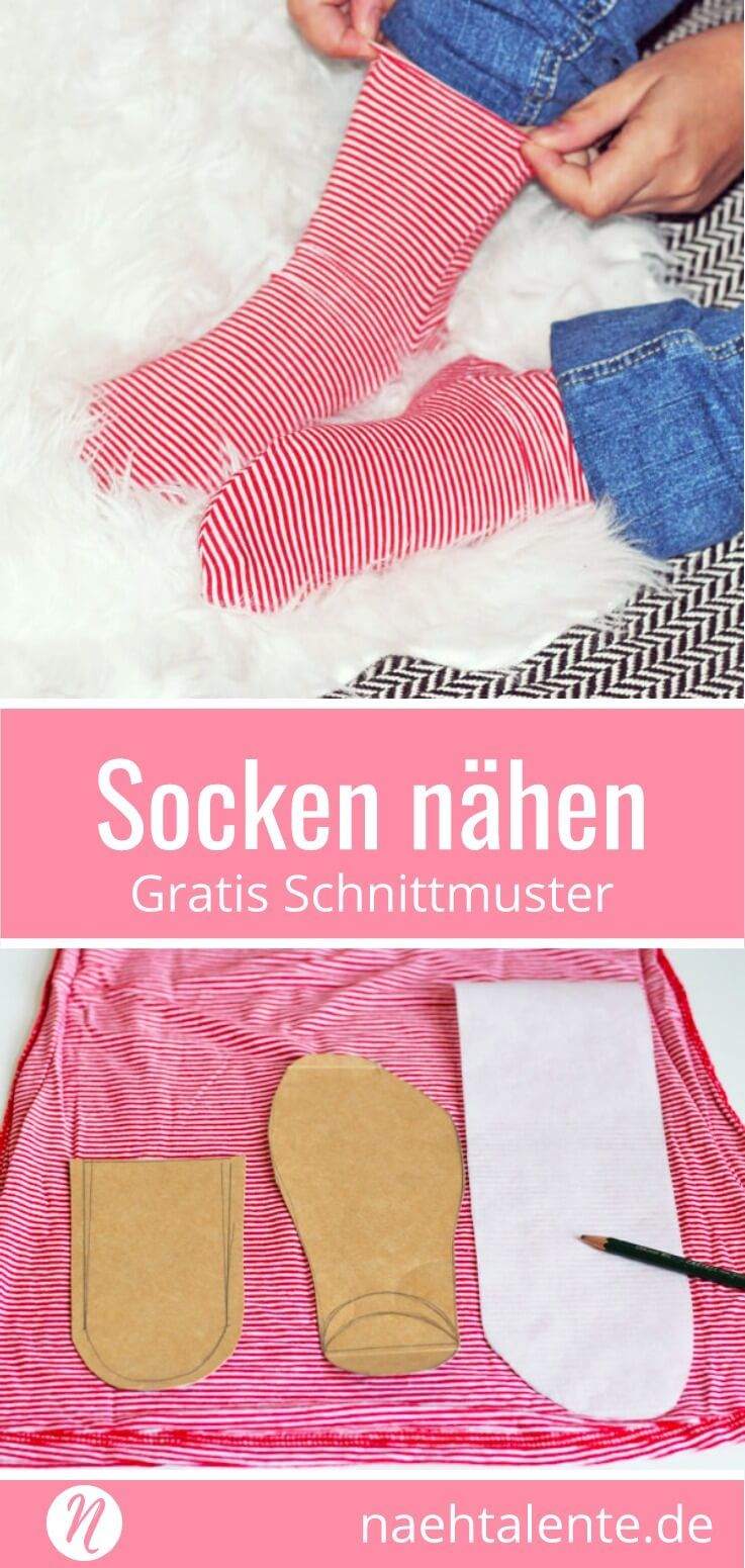 Socken selber nähen | Die socke, Nachzeichnen und Der fuß