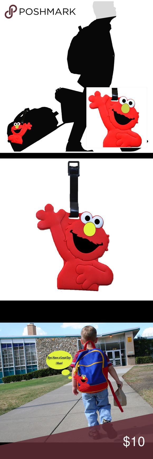 Sesame Street Elmo Luggage Tag Boutique Streets And Pikachu Travel Baggage Back To School Must Have This Is More Than Just A Tags It Shows Your