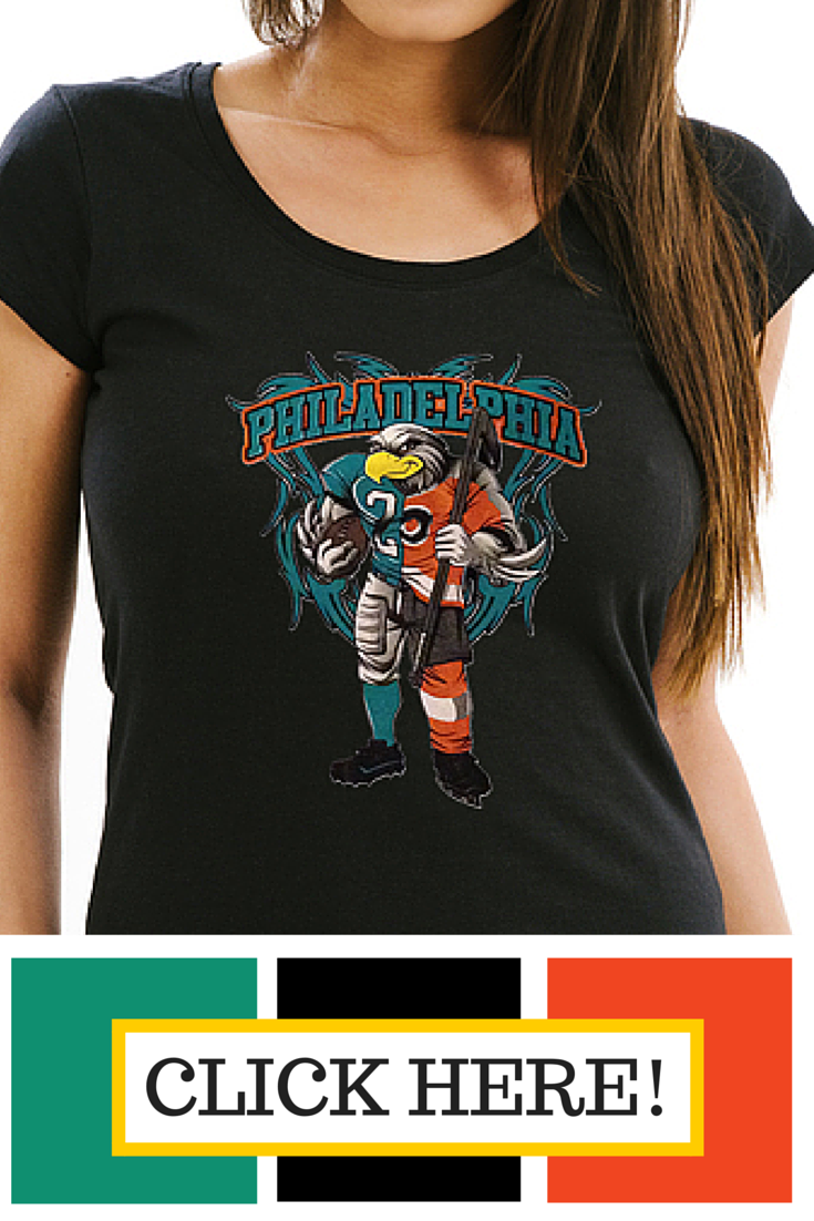 50c2d546 Philadelphia Eagles/ Flyers t-shirt. Half and Half design made just for  you! - Tee Shirt Galaxy