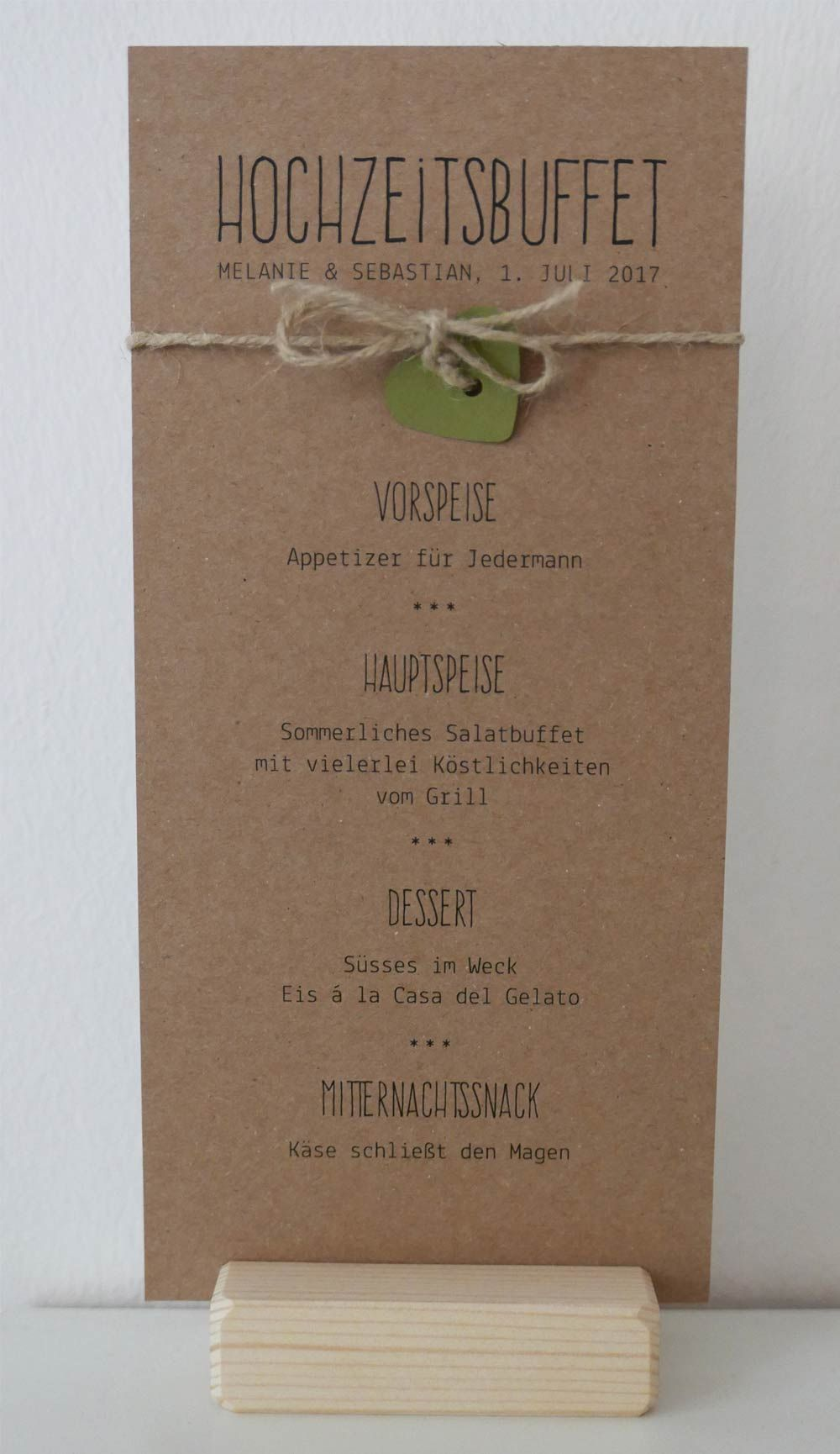 men karte auf kraftpapier gedruckt serie paulina wedding menu on kraft paper wedding. Black Bedroom Furniture Sets. Home Design Ideas