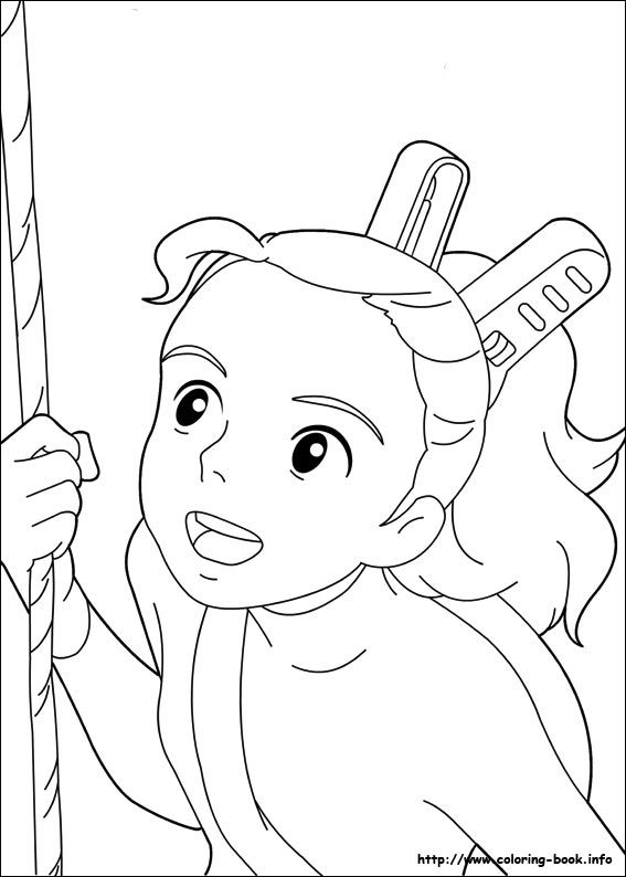 The Borrower Arrietty coloring