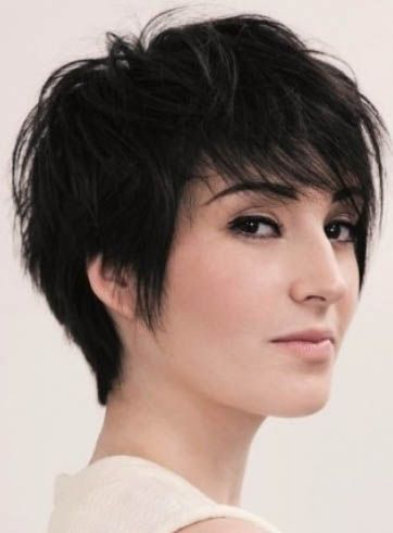 Unisex Cool Fascinating Short Messy Pixie Black Wig 100