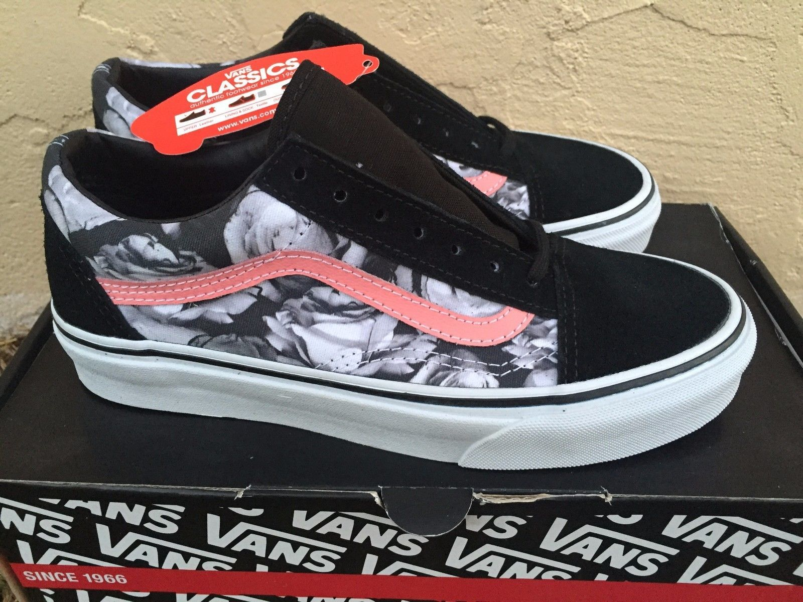 vans old skool digi roses
