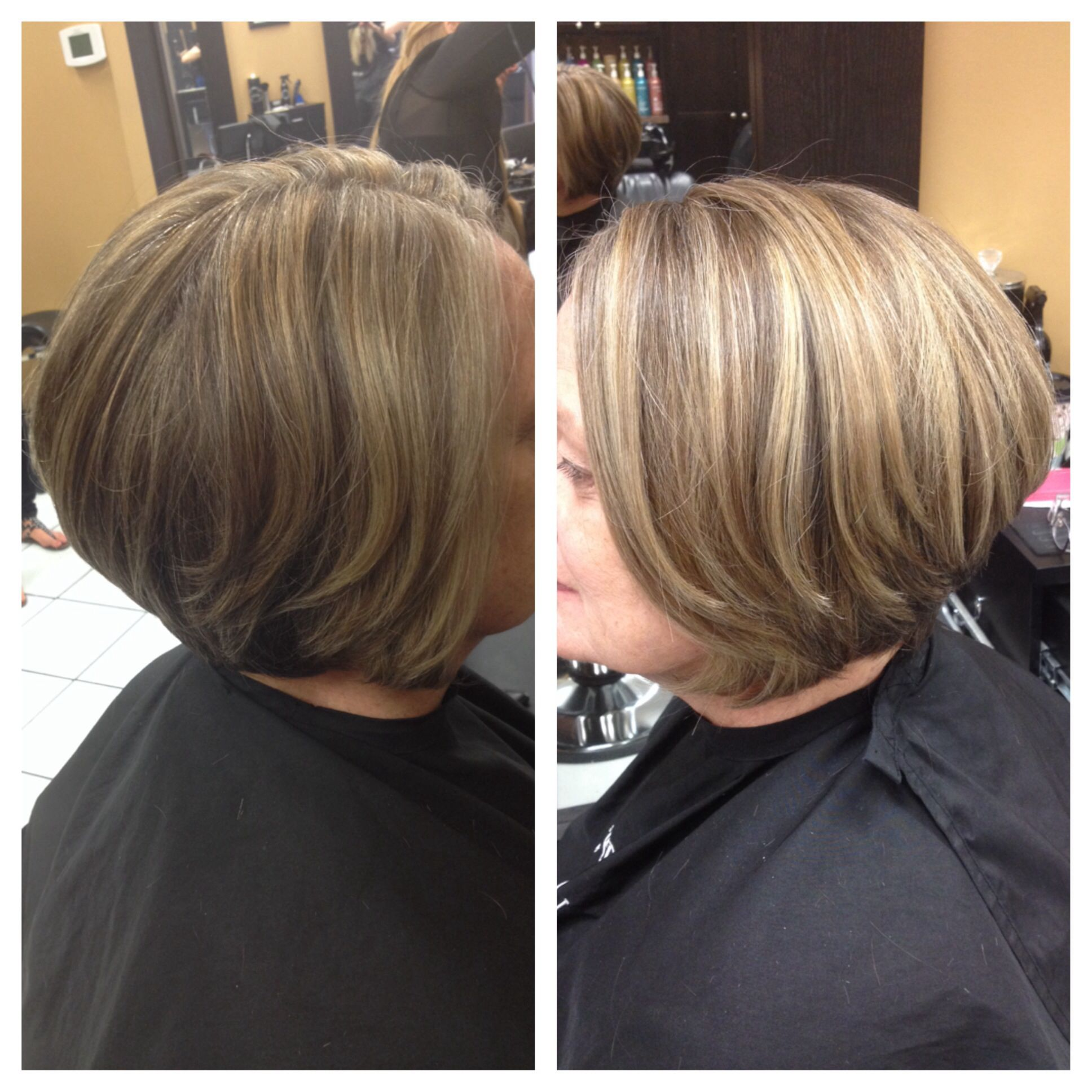 Before and after. Lowlights for grey coverage and new growth ...