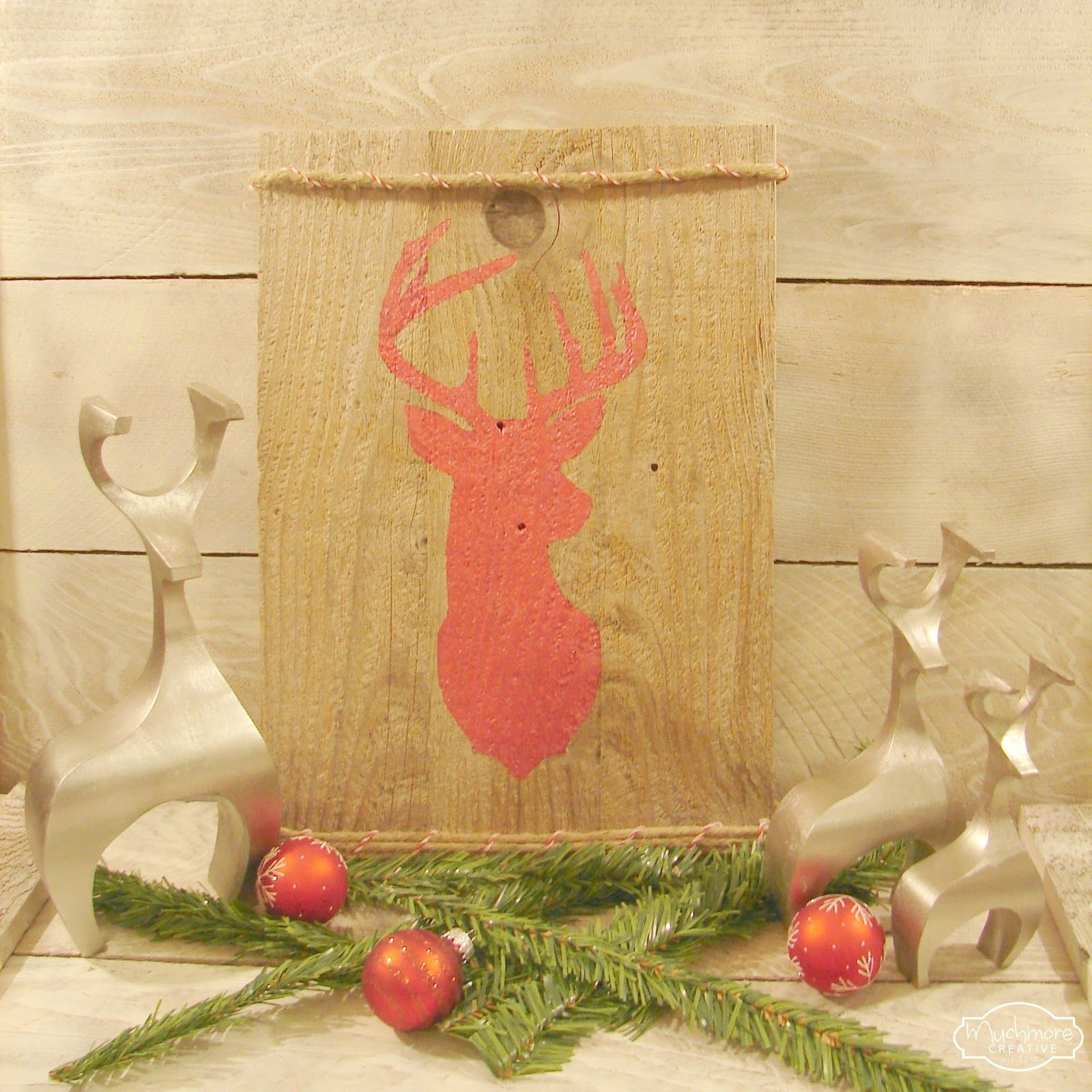 Pallet Deer Christmas projects, Crafts, Diy stocking holder