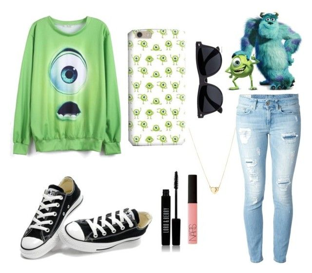"""""""Monster inc."""" by lalalibster ❤ liked on Polyvore featuring Dondup, Converse, Lord & Berry, NARS Cosmetics, INC International Concepts, River Island, women's clothing, women, female and woman"""