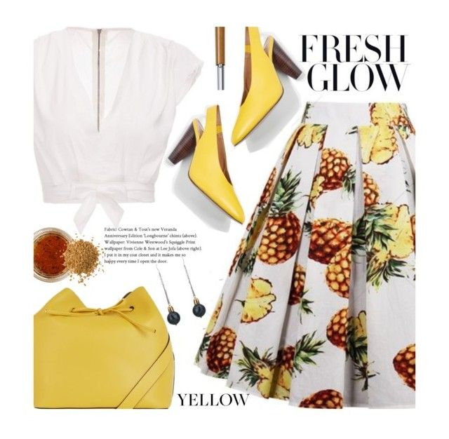 """""""Summer Work Wear: Pineapple Print"""" by beebeely-look ❤ liked on Polyvore featuring Topshop, EARTH TU FACE, Giorgio Armani, vintage, WorkWear, pineapple, streetwear, officestyle and twinkledeals"""