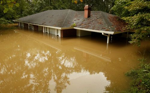 Image result for flooded house