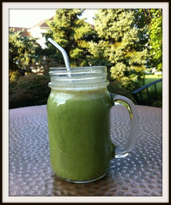 Green Smoothie with Cinnamon