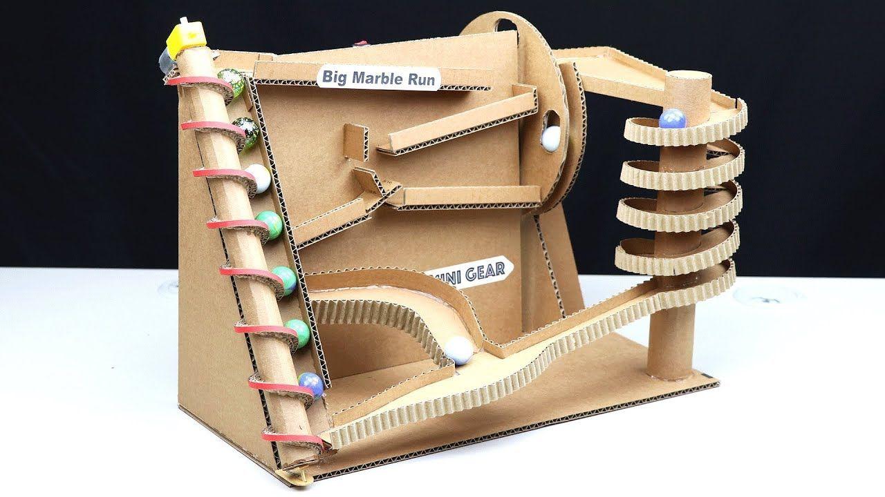 How To Make Big Marble Run Machine From Cardboard