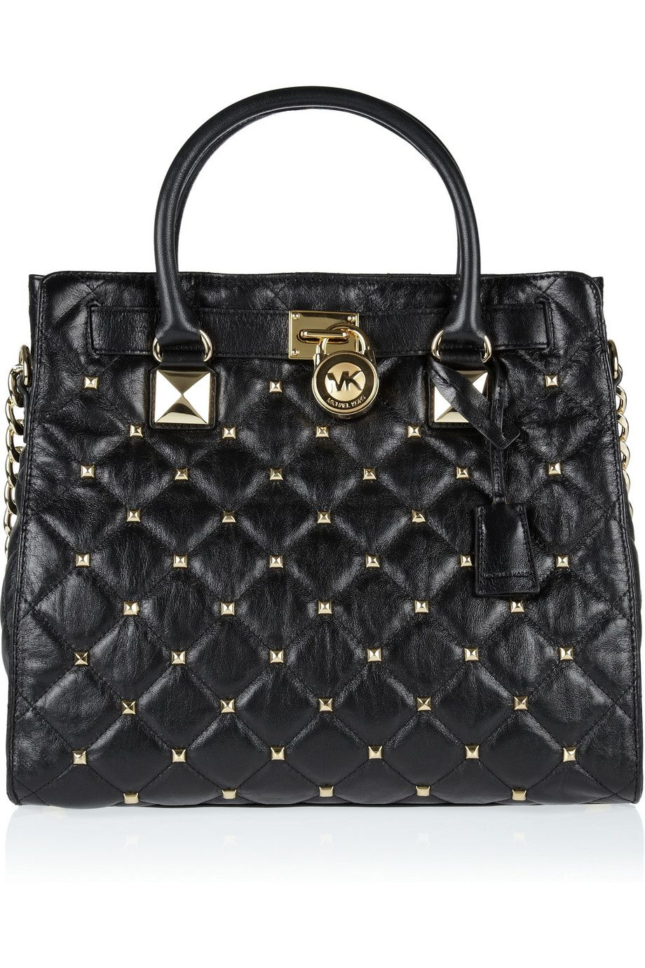 075c8934b70b MICHAEL Michael Kors | Hamilton studded quilted leather tote ...