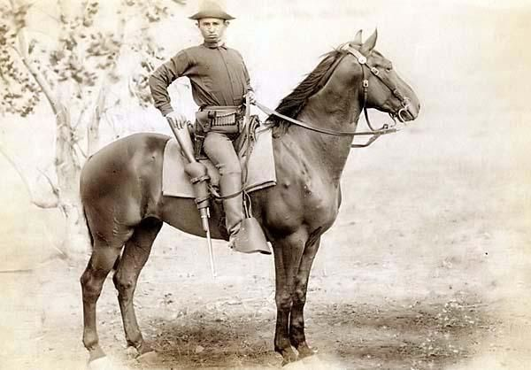 the old west pictures | The Cavalier. A Young US Army Cavalry Soldier on his Horse