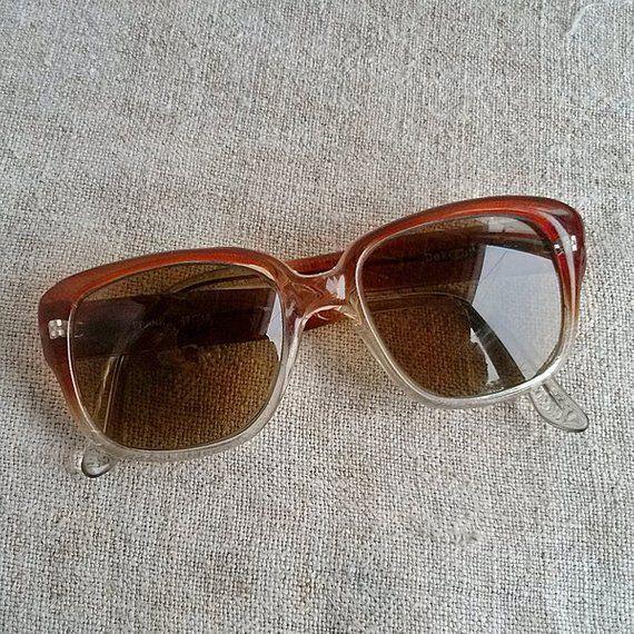 4079227e82 Cognac color sunglasses Vintage summer goggles Retro eyewear Hipster  grandpas eyewears Grandmas glasses Reading glasses Altered transformed