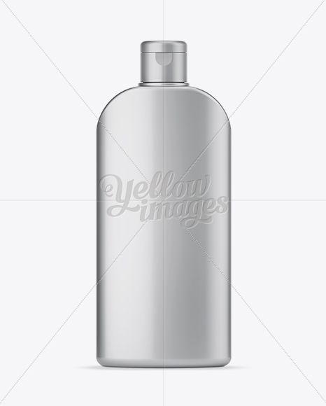 Matte Metallic Shampoo Bottle Mockup