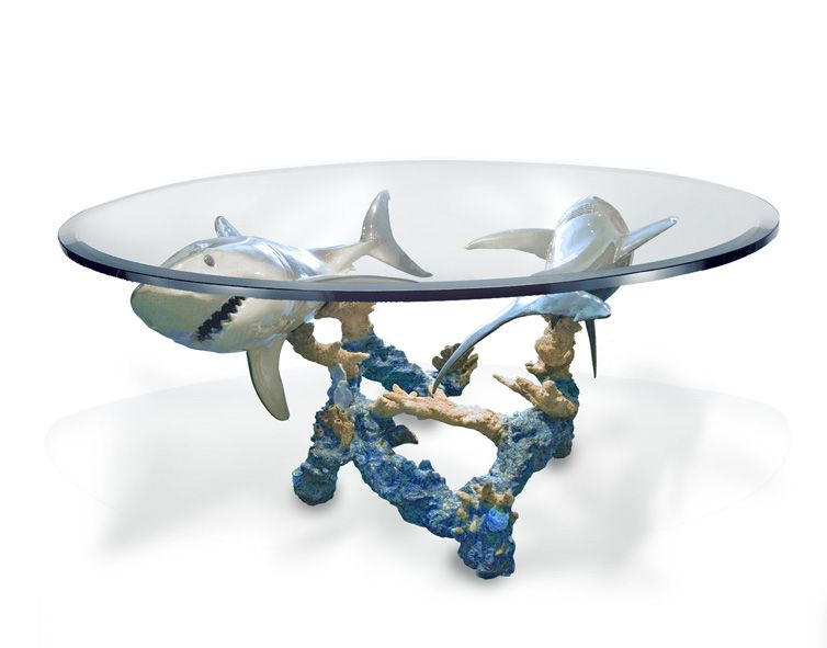 Superbe Wyland Feeding Frenzy Dinning Table Is An Amazing Site In Any Home. #shark
