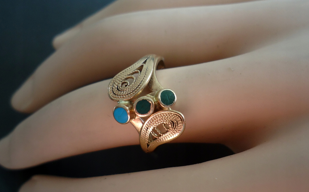 Imago Artis Zloto 3 Filigran 9090851303 Oficjalne Archiwum Allegro Arty Jewelry Gemstone Rings