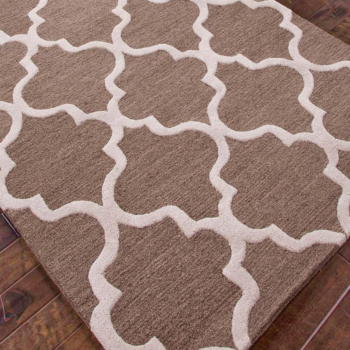 Tudor Window Grill Plush Wool Rug Design Inspiration