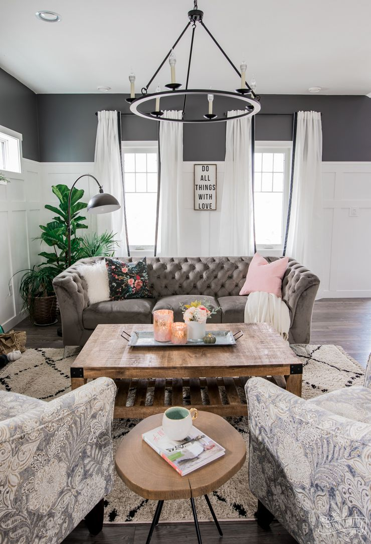 A Cozy Rustic Glam Living Room Makeover For Fall The Diy M