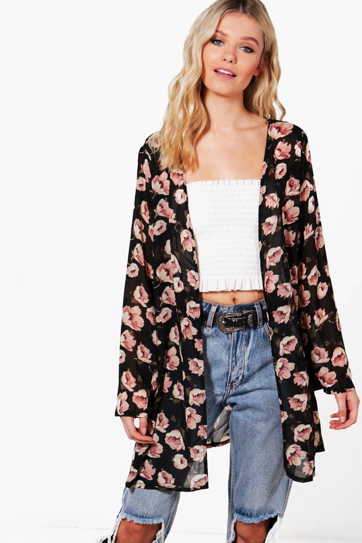 86bbe250d7 Camille Floral Print Kimono | My Style | Kimono, Floral prints, Floral