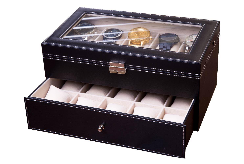 Big watch box watch case for men watch display collector piece
