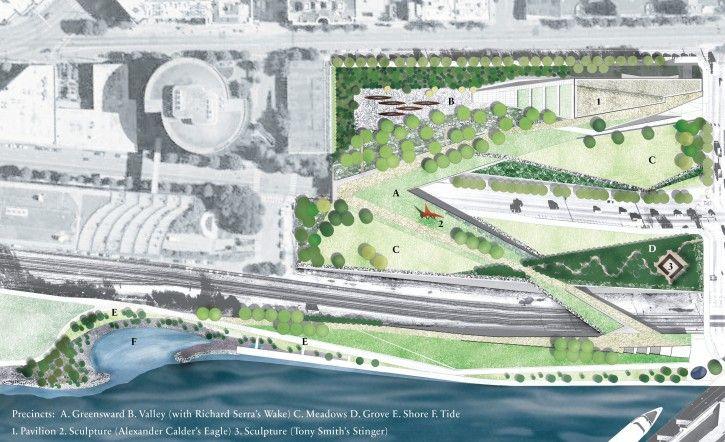 Olympic Sculpture Park Landscape Architecture Foundation Park Landscape Landscape Plan Landscape