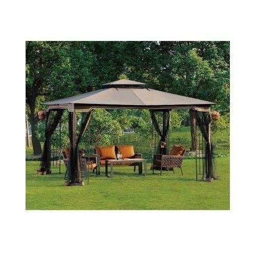 Regency Ii Patio Gazebo With Mosquito Netting 10 X 12 Outdoor Canopy