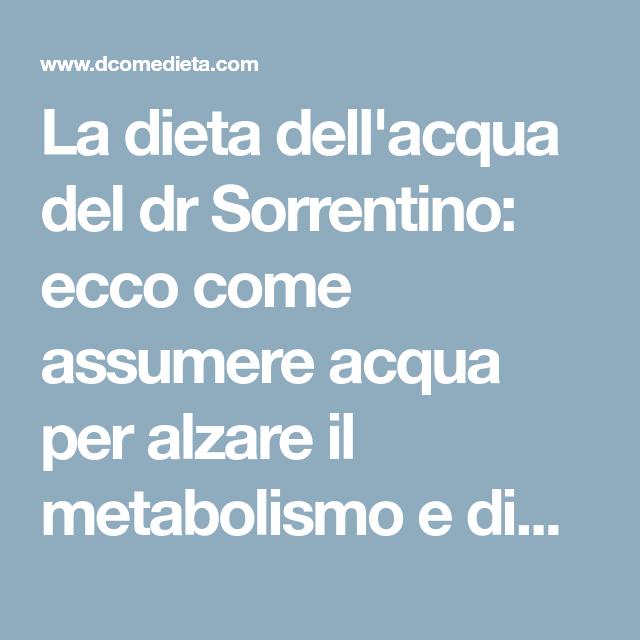 come è la dieta dellacqua per perdere peso