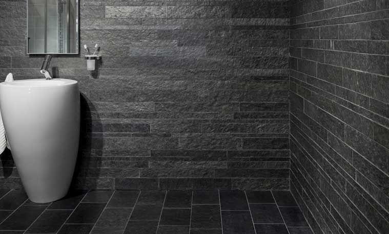 Badezimmer Fliesen Schiefer Interessant Naturschieferplatten Im Bad Mosaik