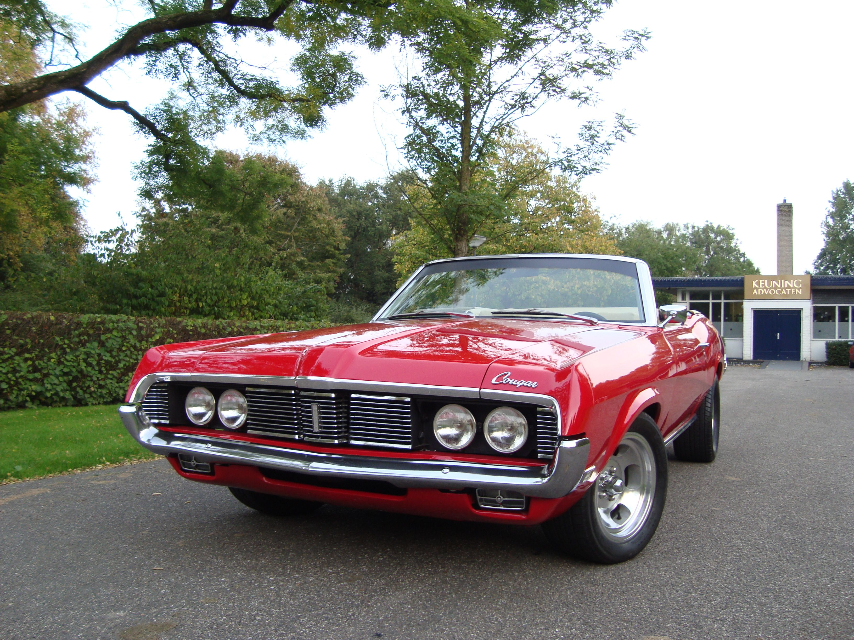 Eyes open killer cat mercury cougar convertible 1969 lightweight 67 68 69 70 ford mustang cabrio musclecar 351 4v